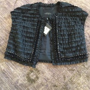 NWT Robert Rodriguez Black Cropped Vest