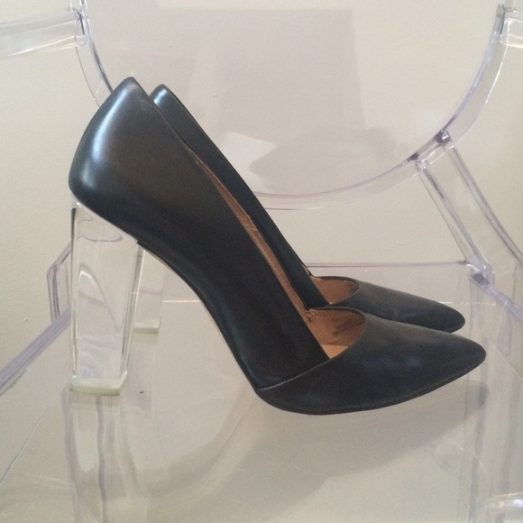 Zara Shoes - Black  Pump with Clear Heel