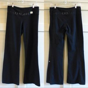 lululemon athletica Pants - + LULULEMON groove reversible pants in black