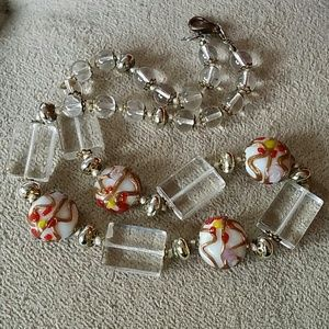 SALE. Venition glass necklace