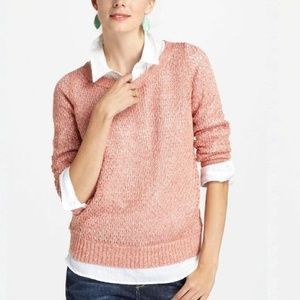 Anthropologie Glimmered Pointelle Pullover
