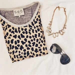 Silk cheetah print top!