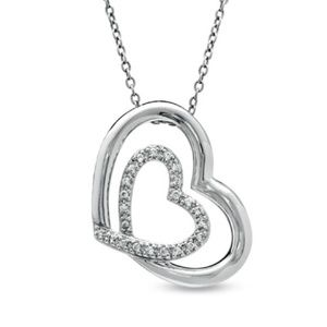 Zales Jewelry Shared Hearts Collection Diamond Necklace