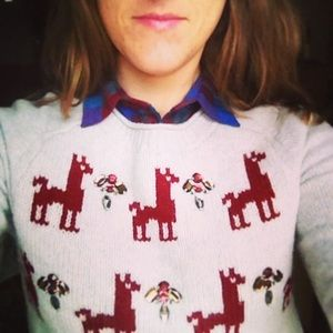 J. Crew Sweaters - Jeweled Llama Sweater