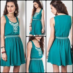 Dresses & Skirts - 🎉HP🎉  Sea Green Fit And Flare Dress
