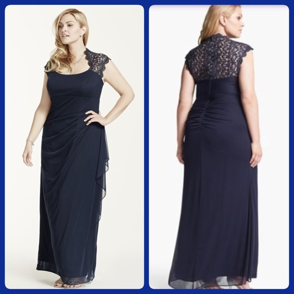Xscape Dresses | Host Pick 315nwt Navy Sz 20w | Poshmark
