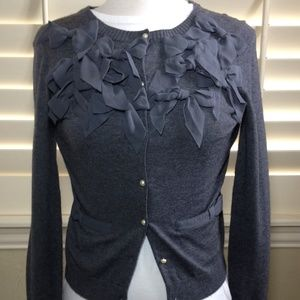 Ann Taylor Bow Cardigan Sweater
