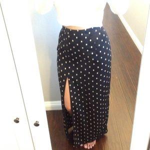 Forever 21 Skirts - Forever 21 polkadot skirt with slit