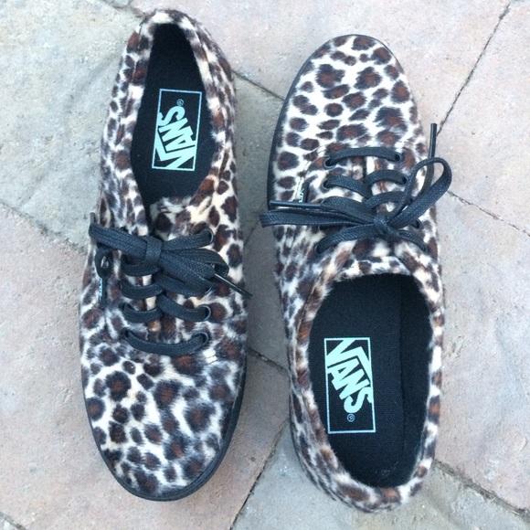 a6f4337f634b06 NEW VANS shoes Cheetah Leopard fuzzy rockabilly