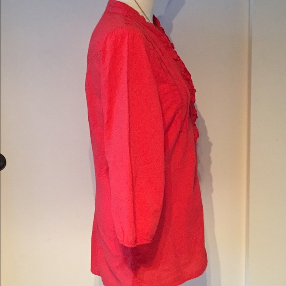 Ruffle Neck Blouse Anthropologie 48