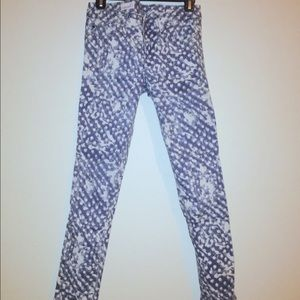 Gap Polka Dot Paint Always Skinny Jean Sz 26