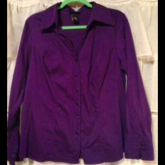 87 off lane bryant tops sold royal purple dress shirt for Royal purple mens dress shirts