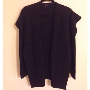 Theory Sweaters - 🆕NWOT Theory Soft Wool Open Cardigan Black