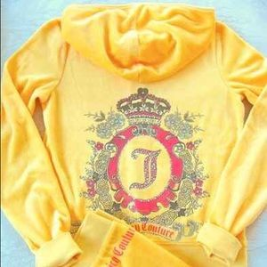 Juicy Couture Jackets & Blazers - Juicy Couture Garden Cameo Velour Hoodie