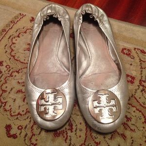 Silver Tory burch shoes