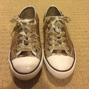 aldo gold sparkly glitter aldo sneakers tennis shoes
