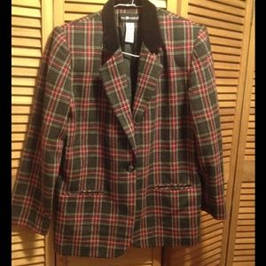 Image result for sag harbor  blazer gray plaid