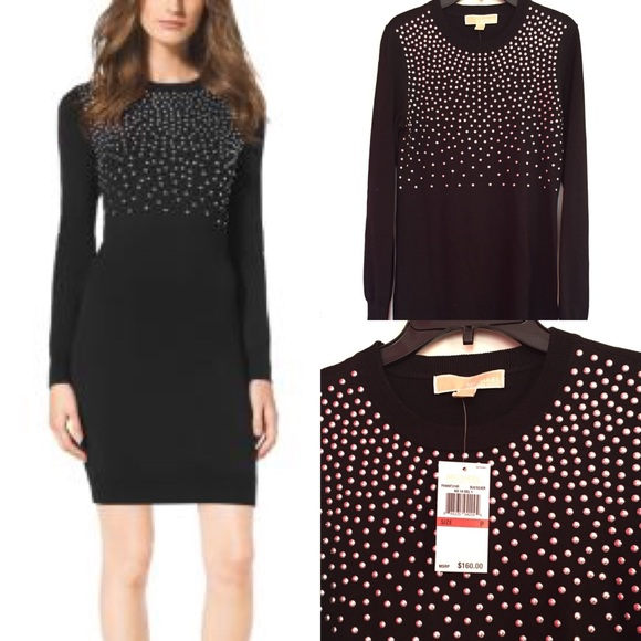 7f9e6afd6e0 NWT💕 Michael Kors Studded Sweater Dress
