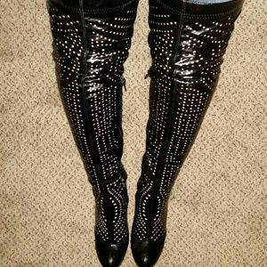 Jeffrey Campbell over knee boots