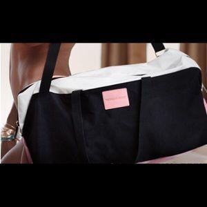 white victoria's secret weekender bag on Poshmark
