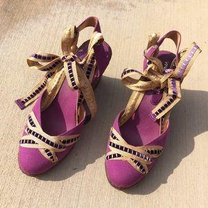 Vivienne Tam Shoes - ✨HP✨ Ribbon Espadrilles