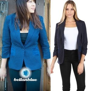 The CARLIE RAE suede jacket - NAVY