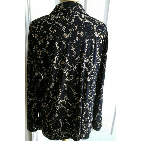 85 off jm collection tops jm collection black blouse for Do true religion shirts run small or big