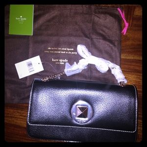 kate spade Handbags - 🎉NWT Kate Spade black leather Angelia purse.