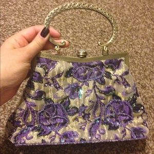 Vintage looking top handle or crossbody bag