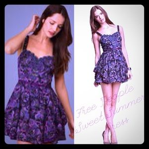 Purple Lilac Embellished Beaded Floral Mini Dress