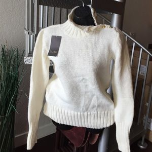 Zara Ivory Knit Sweater size Medium - NWT