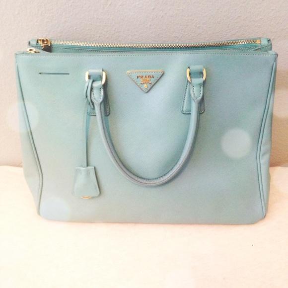 4d3b37f4fe2 SALE❗️Prada Saffiano Lux Tote in Tiffany Blue. M 54f333072ba50a2bf7008f12