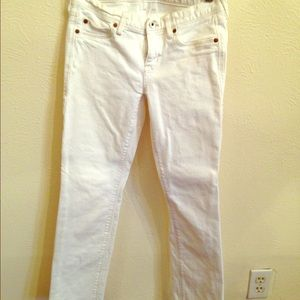 Madewell cropped white denim