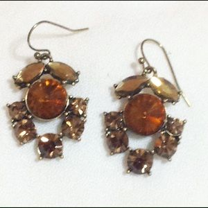 J crew brassy topaz color crystal earrings