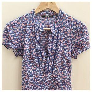 Oasis Dresses & Skirts - OASIS | Blue Floral Dress