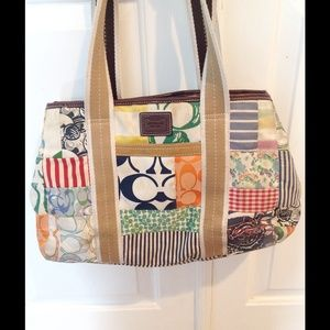 Hamptons Patchwork Coach Tote