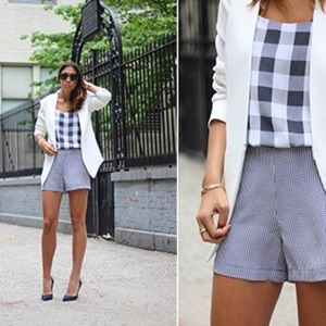 Equipment Dresses & Skirts - [Equipment]black lewis silk gingham shorts