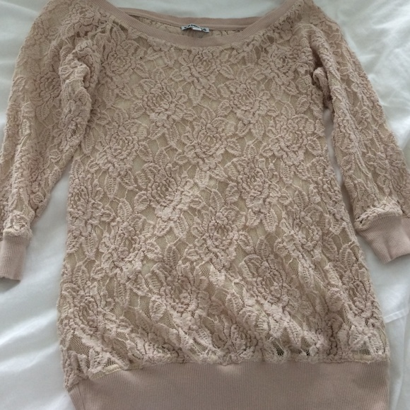 66% off Express Tops - express beige lace blouse (negotiable price ...
