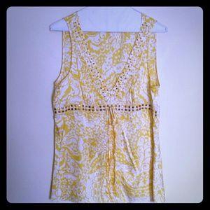 Express silk sleeveless blouse