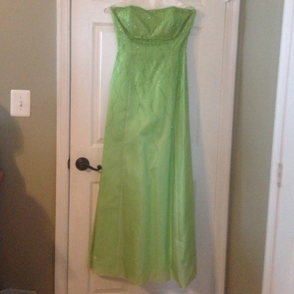Rebecca USA Dresses   Prom Gown Lime Green Corseted Back   Poshmark