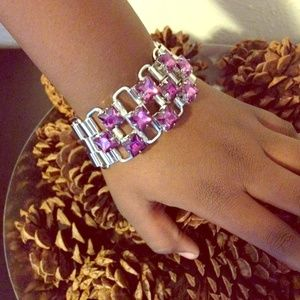 Jewelry - 💖Watch Chain Purple Stone Bracelet💟