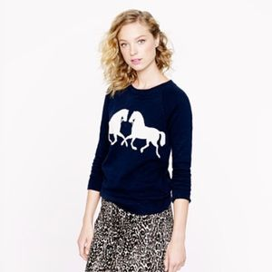 J. Crew Sweaters - Bundle JCREW horse sweater and sequin clutch!