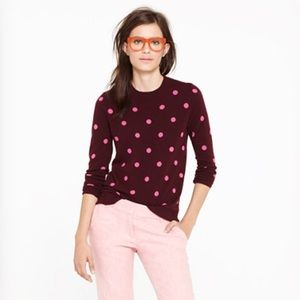 J. Crew Sweaters - JCREW cashmere pink polka dot sweater
