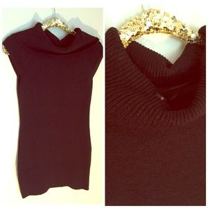 Ambiance Apparel Sweaters - Black Sweater Dress