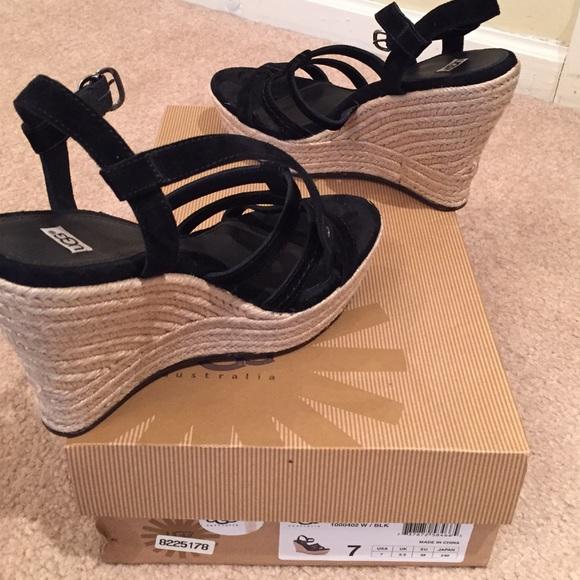 da0e3286174a UGG Australia Callia Wedge Sandal Black Size 7. M 54f379792ba50a2bf700af3a