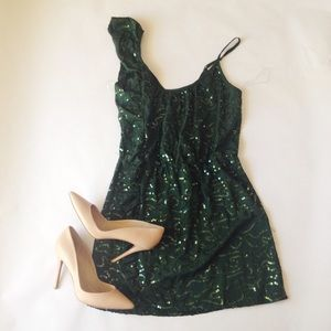 Dresses & Skirts - Emerald Sequin Dress