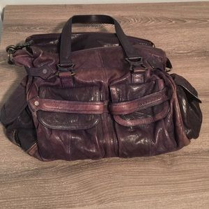 Junior Drake Purple Leather Purse