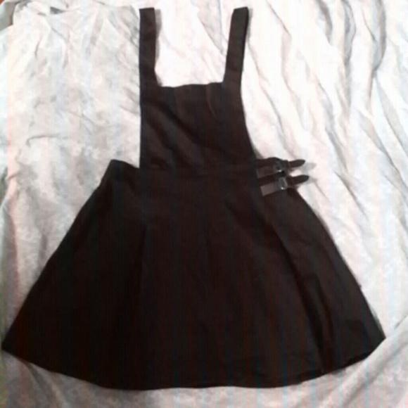 Black skirt overalls