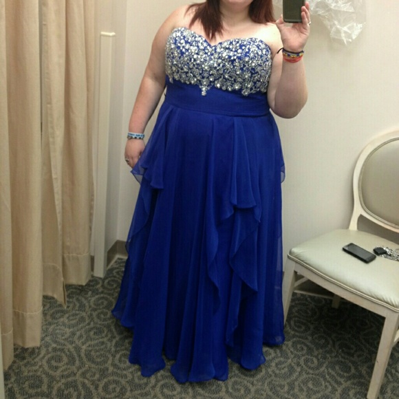 Davids Bridal Dresses 2014 Mac Duggal Royal Blue Prom Dress