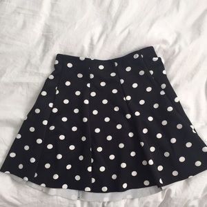 ZARA polka dot circle skirt